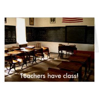 ¡el sitio de escuela vieja, profesores tiene clase tarjeta de felicitación