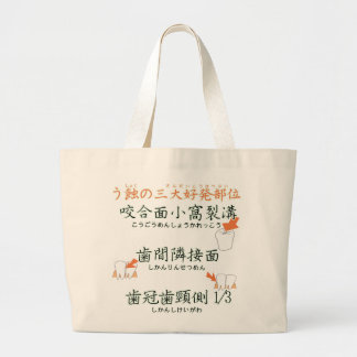 El sitio más frecuente tres del japonés de la cari bolsa tela grande