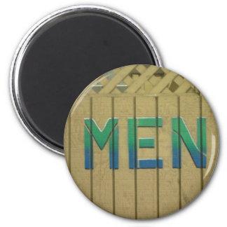 El sitio para hombre firma adentro verde lima imán redondo 5 cm