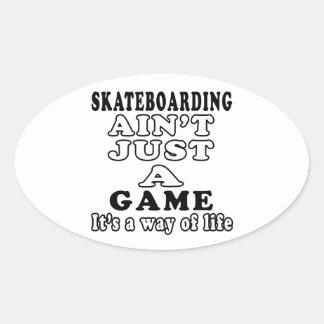 El Skateboarding no es apenas un juego que es una Pegatina Ovalada