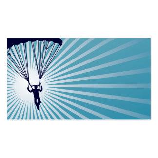 el skydiving altísimo plantilla de tarjeta personal