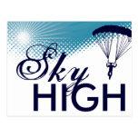 el skydiving altísimo tarjeta postal