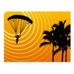 el skydiving altísimo tarjetas postales