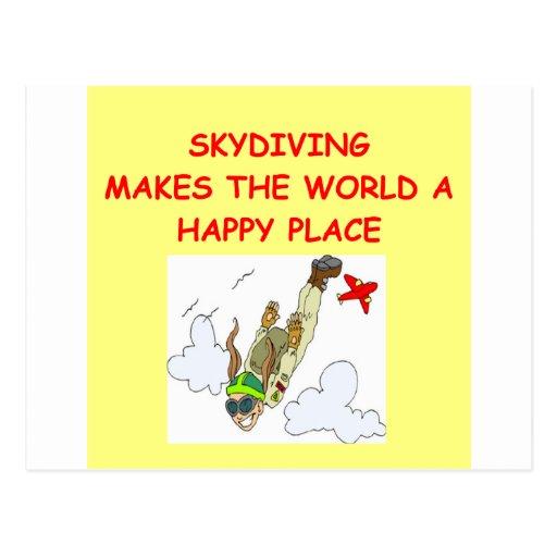el skydiving postales