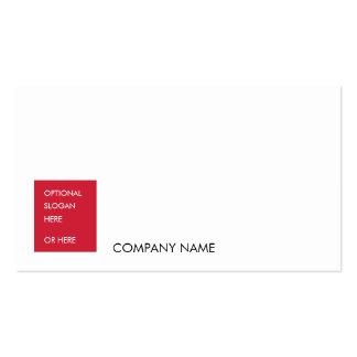 El SL No23 corporativo calienta rojo Tarjeta De Visita