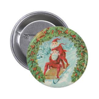 El Sledding de Santas del vintage Pin