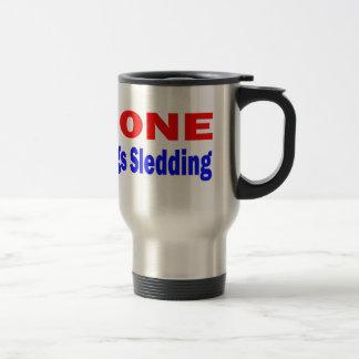 El Sledding. ido de los perros Taza De Viaje De Acero Inoxidable