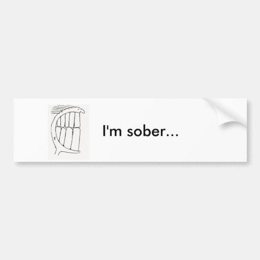 El smiley de Budd es sobrio… Pegatina Para Auto
