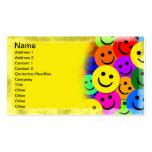 El smiley hace frente al collage tarjetas de visita