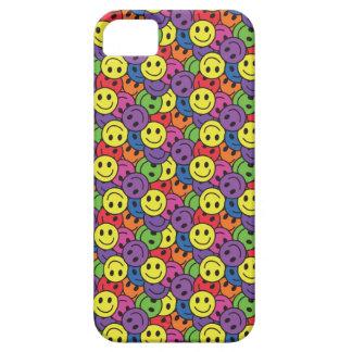 El smiley hace frente al modelo retro del hippy iPhone 5 Case-Mate cárcasa