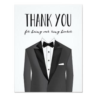 """El smoking le agradece padrino de boda del invitación 4.25"""" x 5.5"""""""