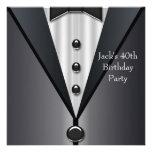 El smoking negro sirve a la 40.a fiesta de cumplea comunicado personal