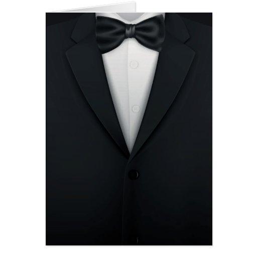 El smoking Tux de los hombres formales Tarjeta Pequeña