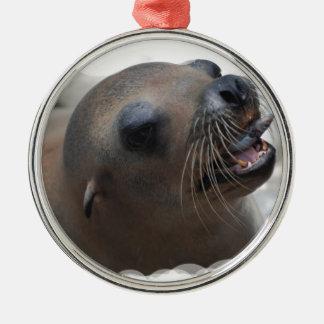 El Snacking del león marino Adorno De Navidad