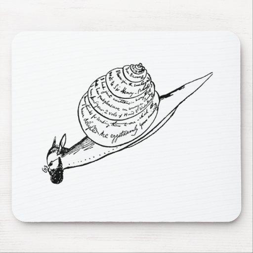 El snail mail de Edward Lear Tapete De Ratones