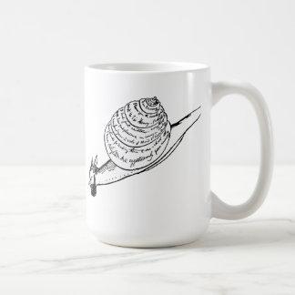 El snail mail de Edward Lear Taza De Café
