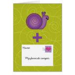 El snail mail para el chica o el muchacho en el ca