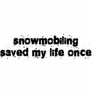 El Snowmobiling ahorró mi vida una vez Escultura Fotográfica