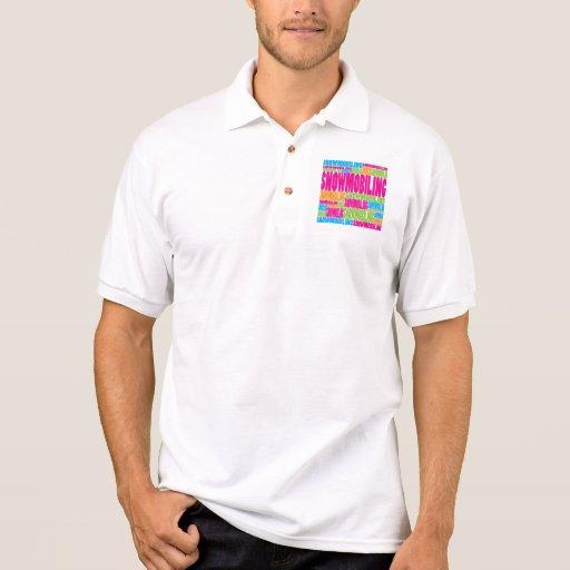El Snowmobiling colorido Camiseta