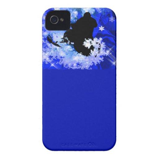 El Snowmobiling en la avalancha Carcasa Para iPhone 4 De Case-Mate
