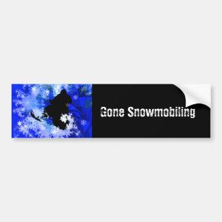 El Snowmobiling en la avalancha Pegatina Para Auto