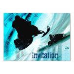 El Snowmobiling en rastros helados Invitación 12,7 X 17,8 Cm