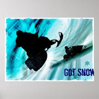 El Snowmobiling en rastros helados Poster