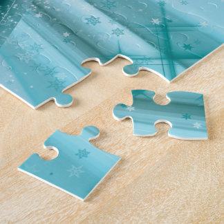 El Snowmobiling en Rev helado de los rastros Puzzle
