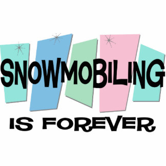 El Snowmobiling es Forever Escultura Fotográfica