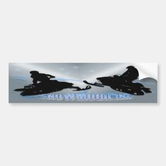El Snowmobiling - pegatina para el parachoques de Pegatina Para Auto