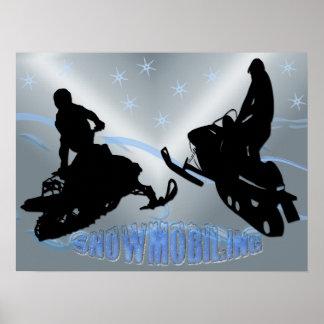 El Snowmobiling - poster de Snowmobilers 24x18
