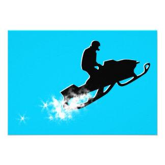 el snowmobiling rastro del polvo comunicado personal