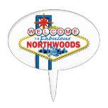 El Snowmobiling/recepción al Northwoods fabuloso Figuras Para Tartas