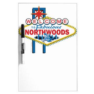 El Snowmobiling/recepción al Northwoods fabuloso Pizarras Blancas De Calidad