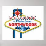 El Snowmobiling/recepción al Northwoods Posters