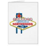 El Snowmobiling/recepción al Northwoods Felicitacion