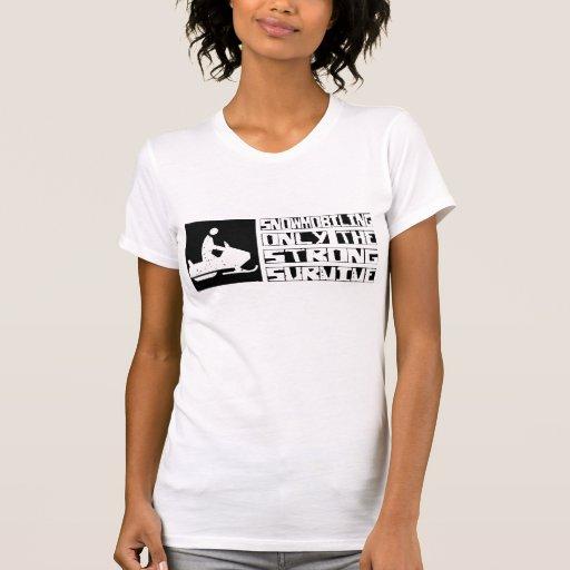 El Snowmobiling sobrevive Camiseta