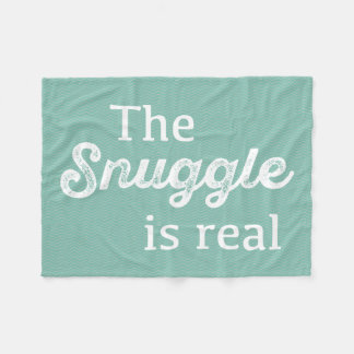 El Snuggle es trullo real Chevron divertido Manta Polar