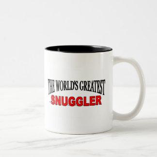 El Snuggler más grande del mundo Taza De Dos Tonos