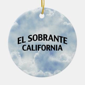 El Sobrante California Ceramic Ornament