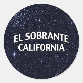 El Sobrante California Classic Round Sticker