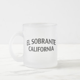 El Sobrante California Frosted Glass Coffee Mug
