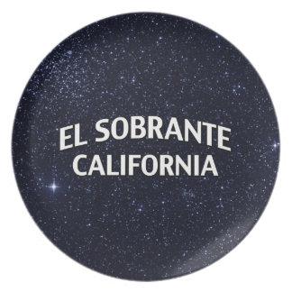 El Sobrante California Melamine Plate