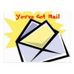 el sobre [1], usted tiene correo tarjeta postal