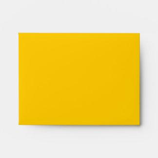 El sobre A2 Mellow el espacio en blanco amarillo
