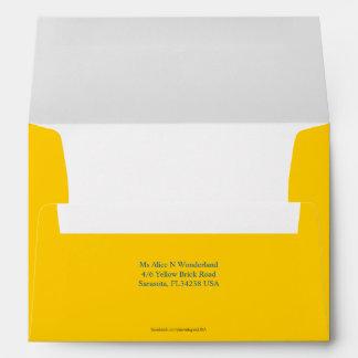 El sobre A7 Mellow remite amarillo