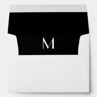 El sobre blanco inicial del monograma, se