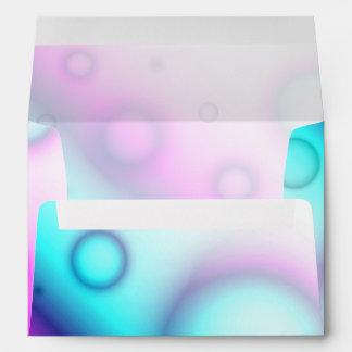 El sobre burbujea fondo abstracto