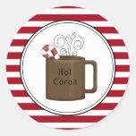 El sobre caliente del día de fiesta del cacao etiquetas redondas