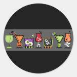 El sobre de los cócteles de Halloween sella a los Etiquetas Redondas